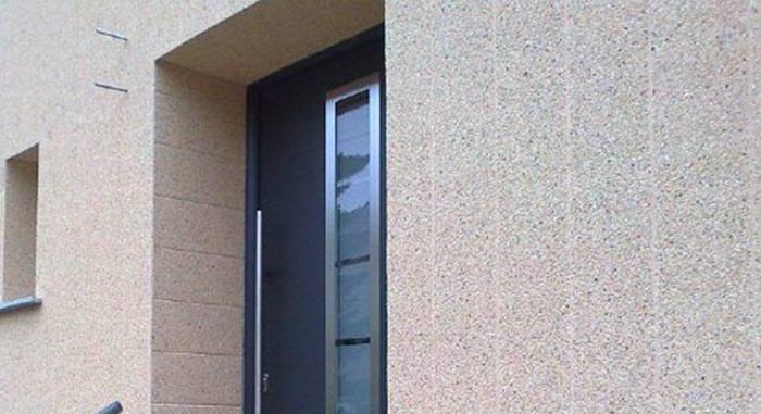 vinytherm fassadenpaneel in edelputzoptik. Black Bedroom Furniture Sets. Home Design Ideas