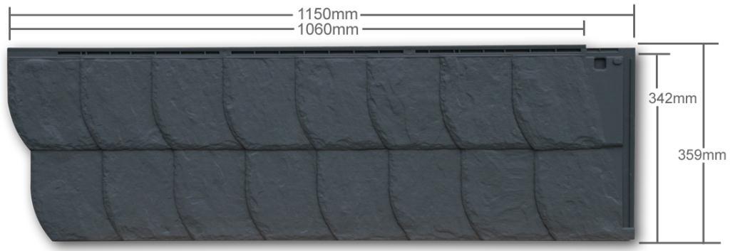 zierer fassadenverkleidung ss3 in schiefer optik. Black Bedroom Furniture Sets. Home Design Ideas