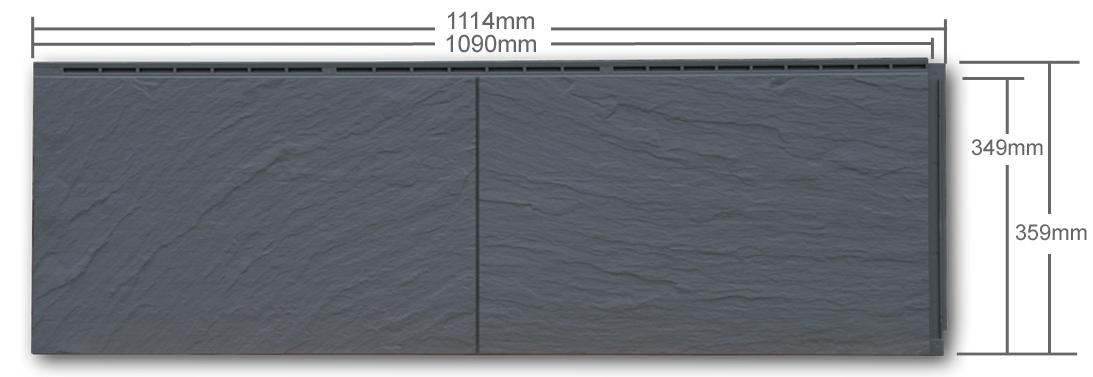 zierer fassadenplatten ss1 aus kunststoff in schiefer optik. Black Bedroom Furniture Sets. Home Design Ideas