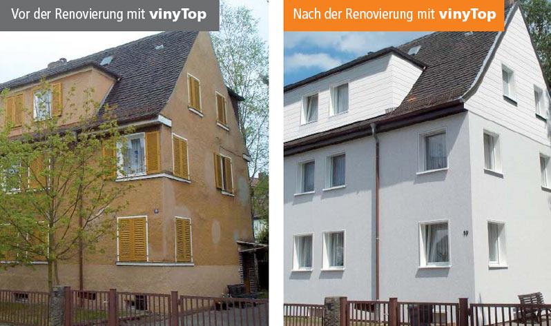 Fassadenpaneele VinyTop Aus Kunststoff In Holzoptik