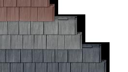 Top Holzschindeln - Emitate aus Kunststoff zur Dachbedeckung ZH05