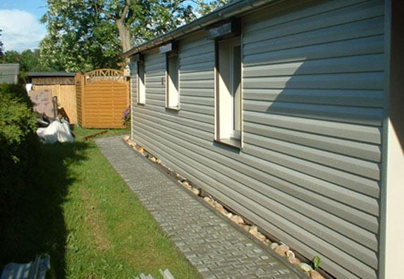 Mobilheim verkleidung als selbstbausatz - Gartenhaus fassadenplatten ...