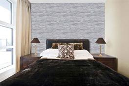 Wandverkleidung Schlafzimmer Steinimitat